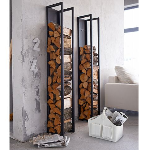 kaminholzregal zur wandbefestigung metall vorderansicht ofen pinterest holz regal und m bel. Black Bedroom Furniture Sets. Home Design Ideas