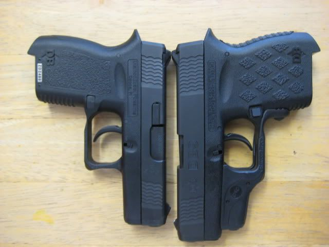 diamond back  380 and 9mm  Set up JUST like a Glock - low