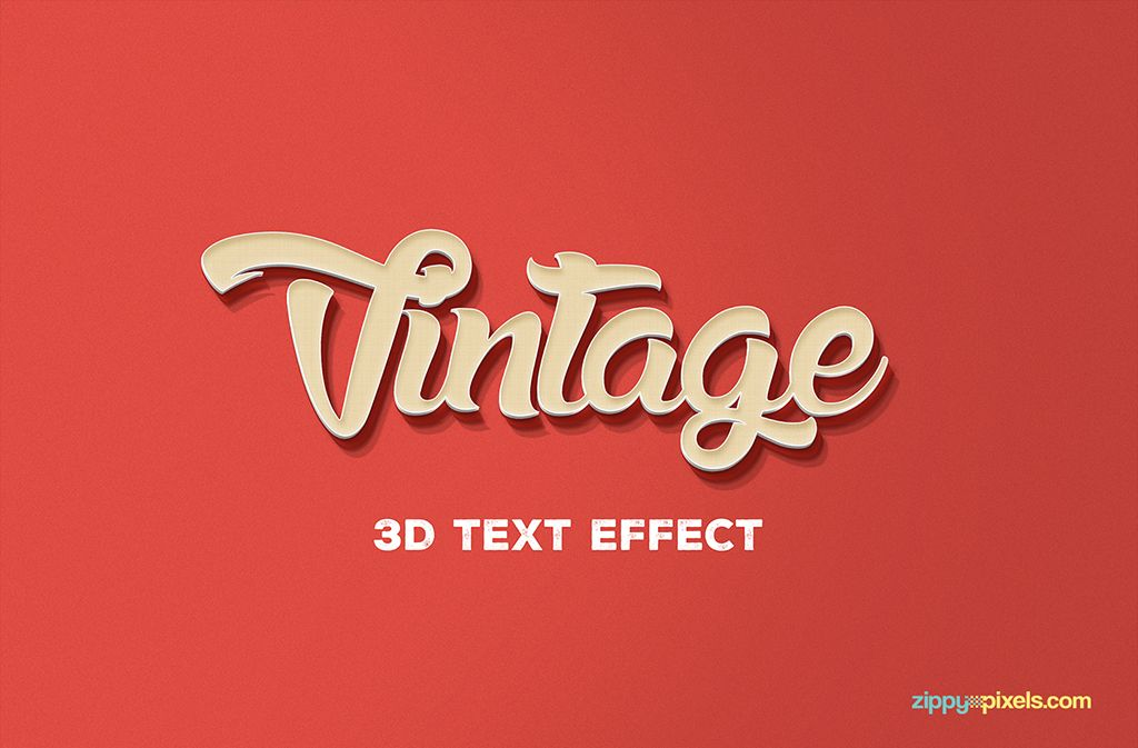 Free 3d Text Effect Vintage Style Fribly 3d Text Effect Text Effects 3d Text