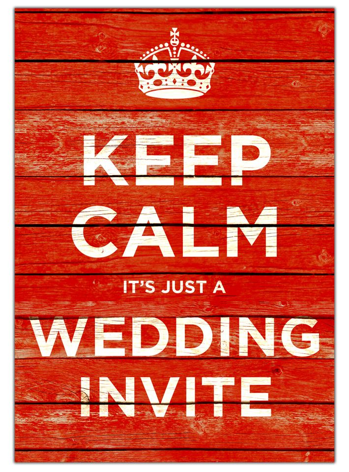 keep calm and carry on wedding invitations | keep calm and carry on vintage wedding invites