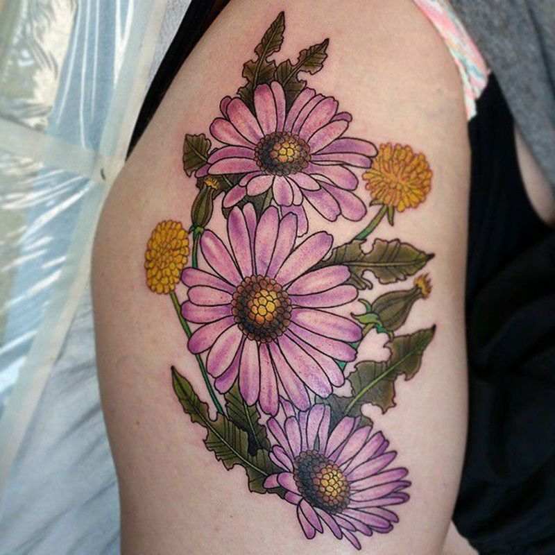 150+ Daisy Tattoo Ideas To Show Your Feminine Side in 2020