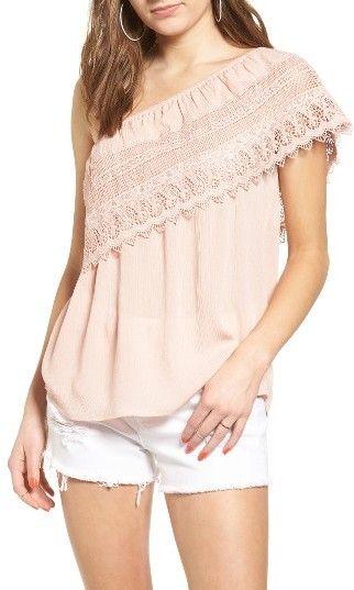 Women's Socialite Crochet One-Shoulder Top