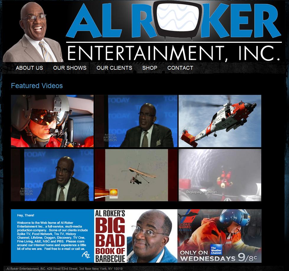 Al Roker Entertainment – #Ongoing  #goElaborate - #Portfolio http://goelaborate.com/portfolio-items/al-rocker-web/ via @ThinkDevGrow