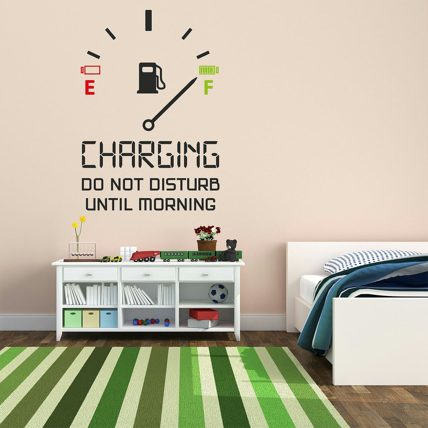 Charging Wall decal, Teens room wall decal, Kids room wall decal ...