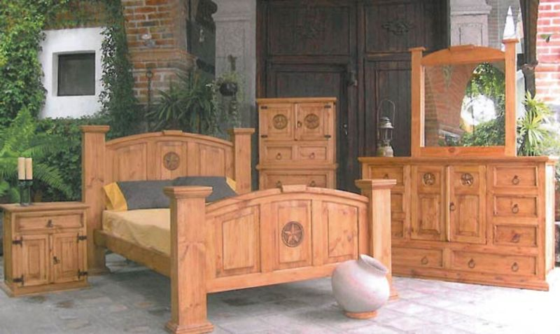 Mansion Rustic Bedroom Set With Hidden Gun Storage Texas Rustic Bedroom Furniture Sets