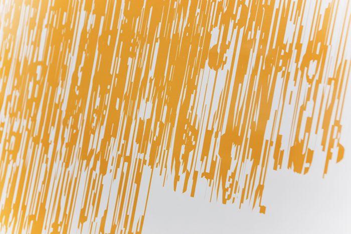 """90103 Burst Helvetica 2"", 2010  Offset Printing, Paper 594 X 420mm  ©Hideki Inaba"