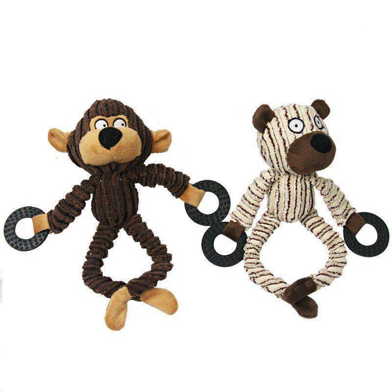 Bogo Dog Collarsplush Monkey Squeakers Dog Toys Handmade Sales