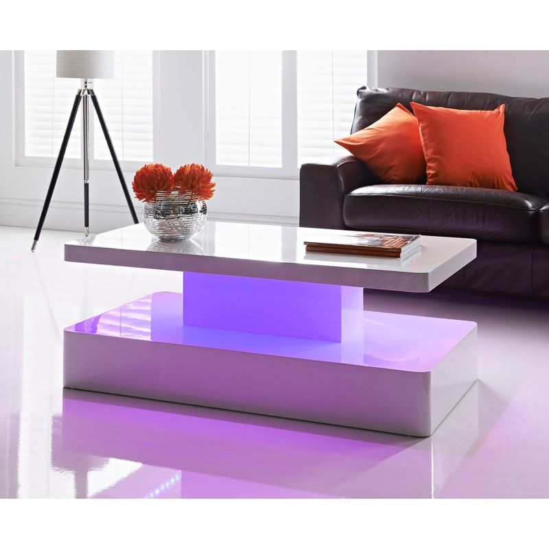 Aurora Led Colour Changing Coffee Table In 2020 Living Room