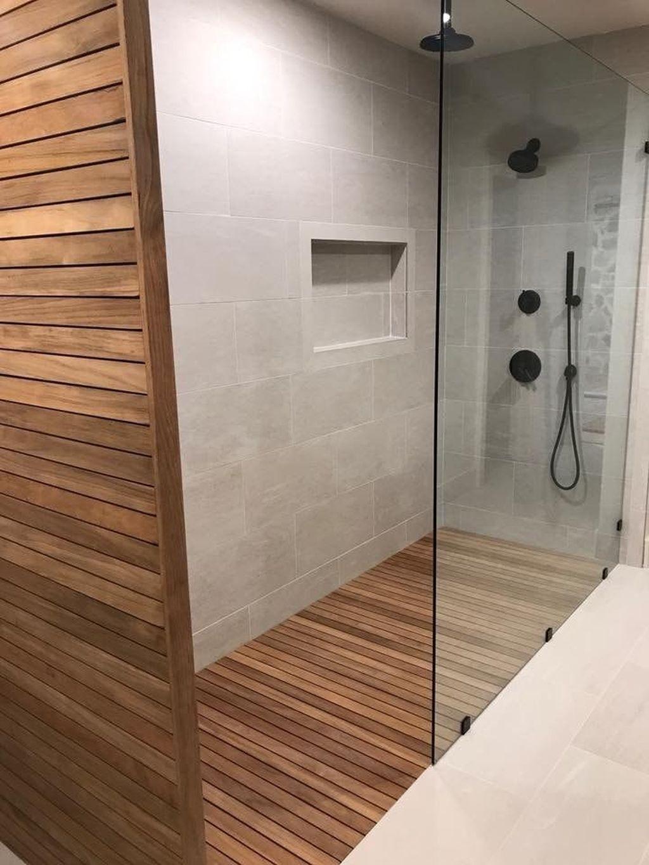 Adorable 30 Incredible Bathroom Shower Remodel Ideas Teak Shower Floor Teak Shower Teak Bathroom