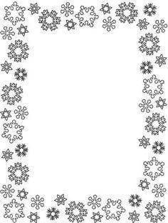 Snowflakes Frame Coloring Page Boyama Sayfalari Cerceve Cerceveler
