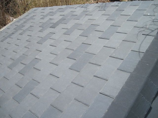 Roofing Black Slate Or Plastic Shingles Plastic Roofing Shingling Roofing