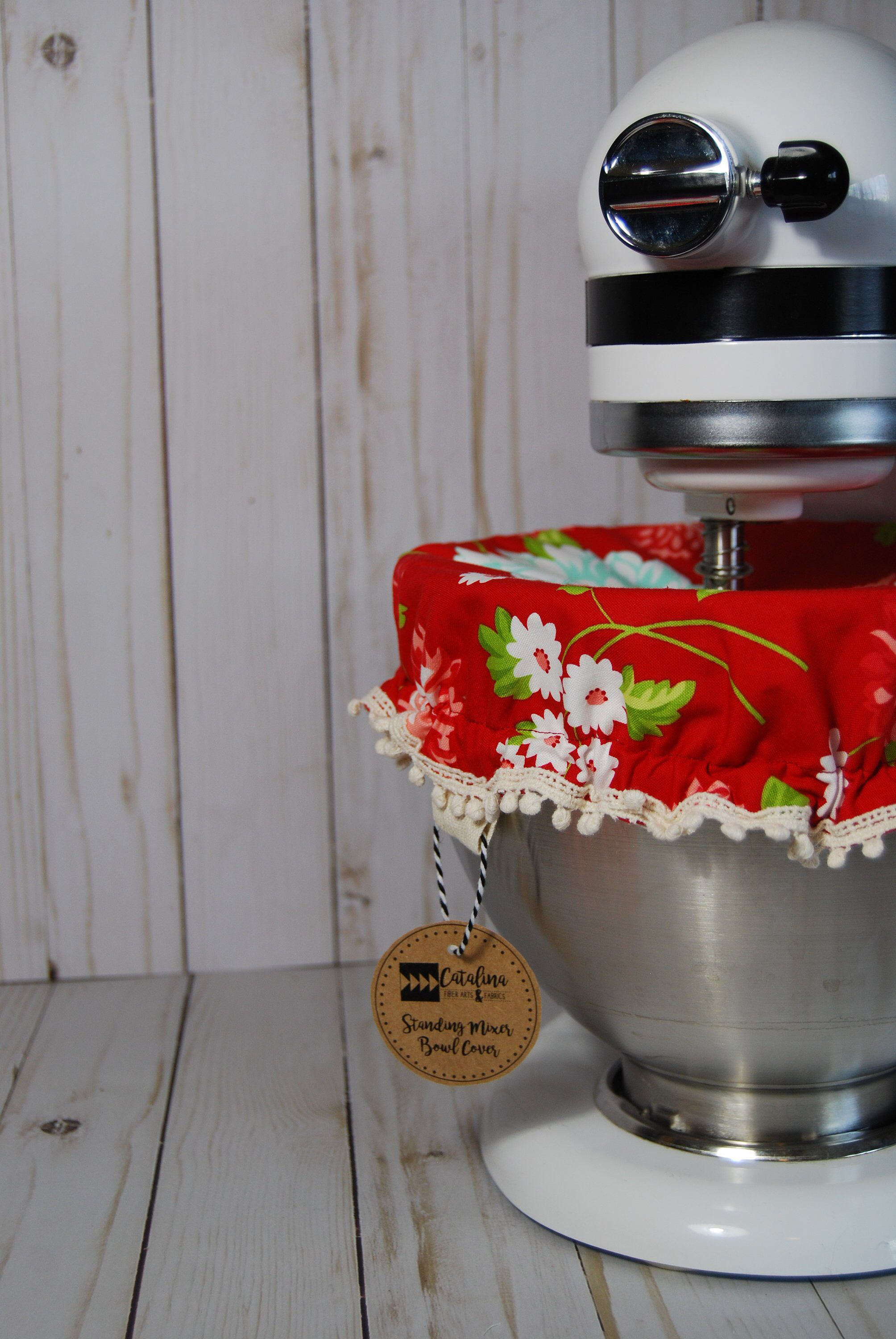 Kitchen stand mixer bowl cover red floral etsy kitchen