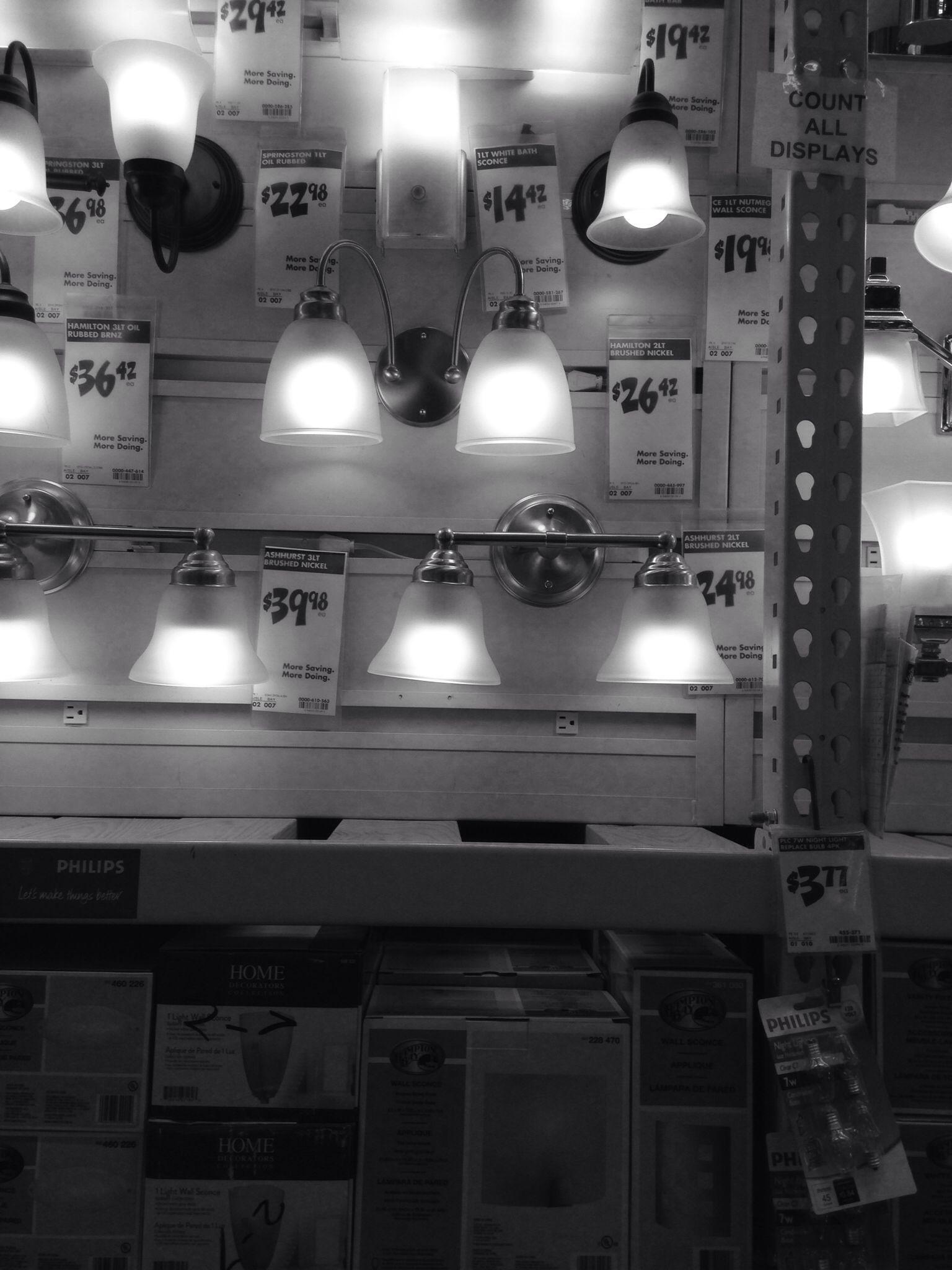 Home Depot. Vanity lights (With images) Vanity lighting