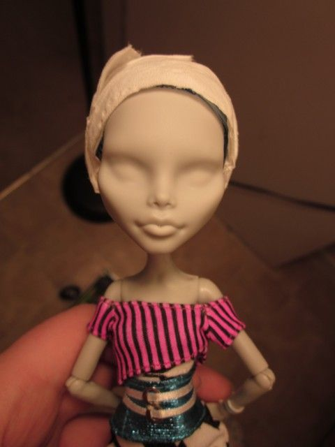 Custom Monster High Doll Repaint And Hair Reroot Wool Doll Hair