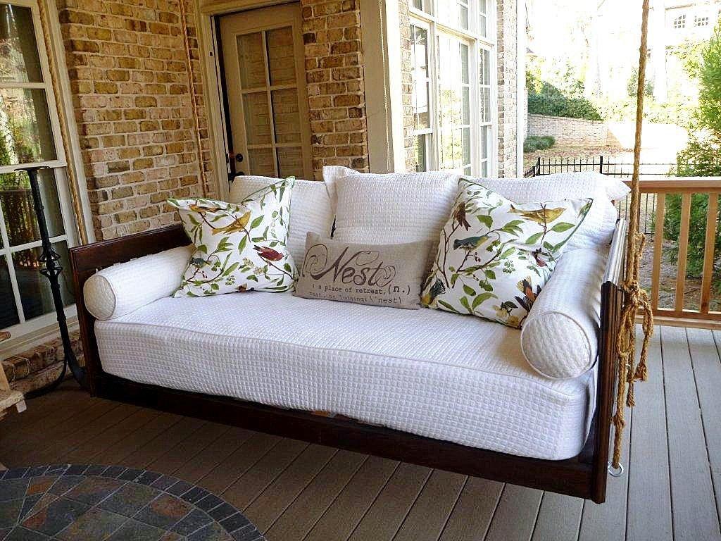 Porch Swing Bed Plans Decor Ideasdecor Ideas Porch Swing Bed Outdoor Bed Swing Porch Swing Cushions