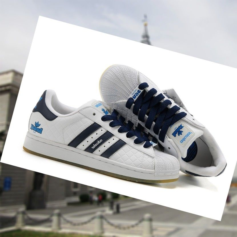 best loved dd5ba 72a24 Adidas Adicolor Superstar 2 de Tenis de Zapatos Para hombre Blanco Azul  Oscuro xsuBO estimado a