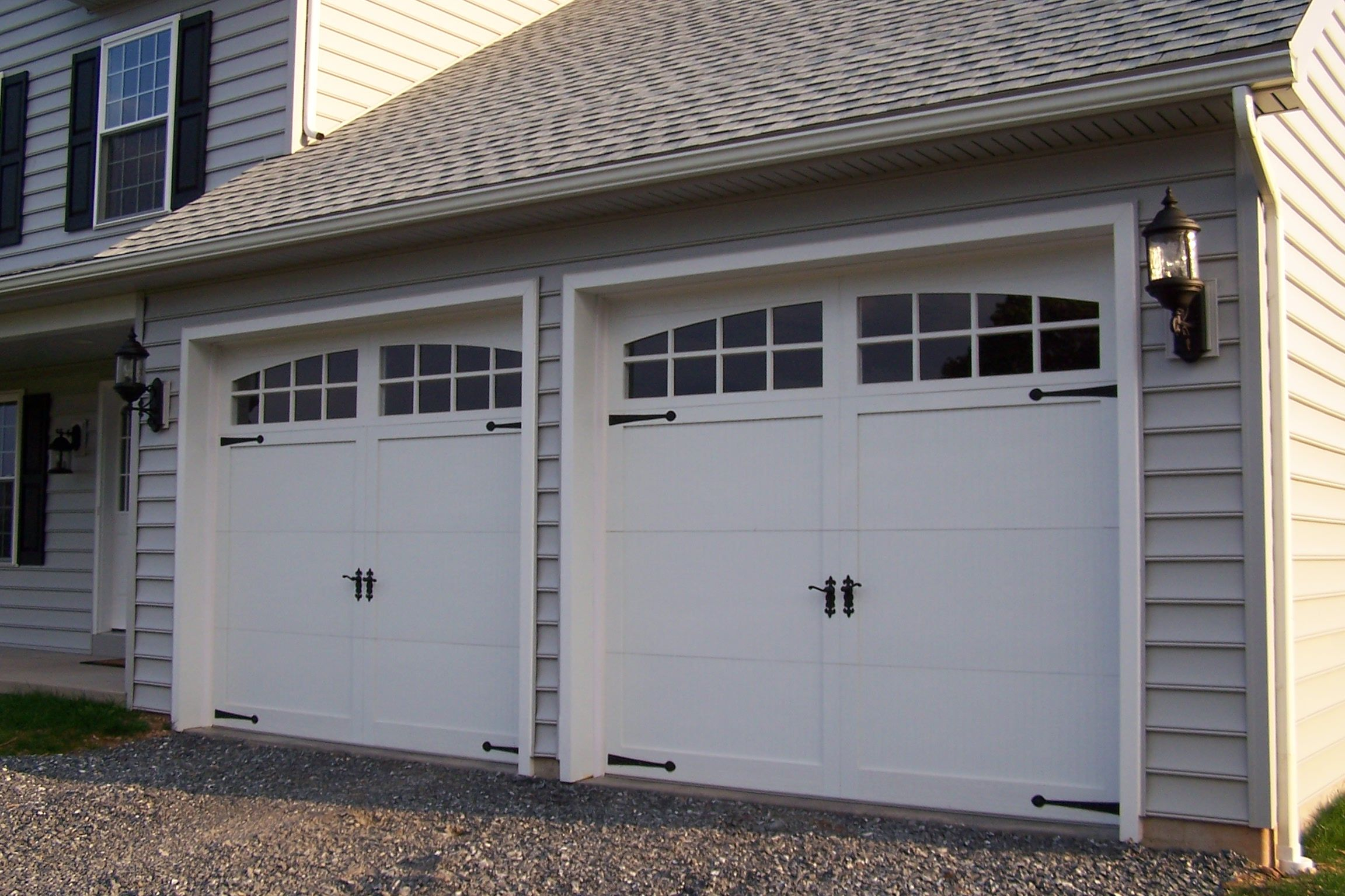 Classica northampton garage door white 9 x 8 no windows - Garage Doors
