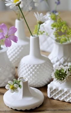 Itzy Bitzy Ditzy, Mini Porcelain Vases ~ Shan Annabelle Valla