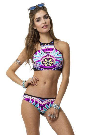 23923490a3c High Neck Crop Bikini Top TALLY WEiJL | Swimwear | Crop top bikini ...
