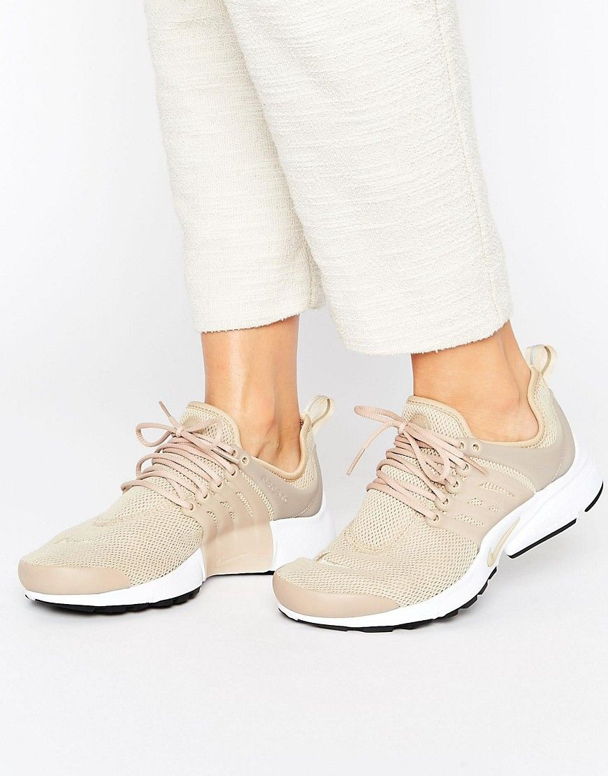 best wholesaler 7f68d 2c120 Nike Presto Trainers In Beige - Beige. Trainers by Nike, Breathable mesh  upper, Lace-up fastening, Padded tongue and cuff, Grosgrain pull tab, Nike  Swoosh ...