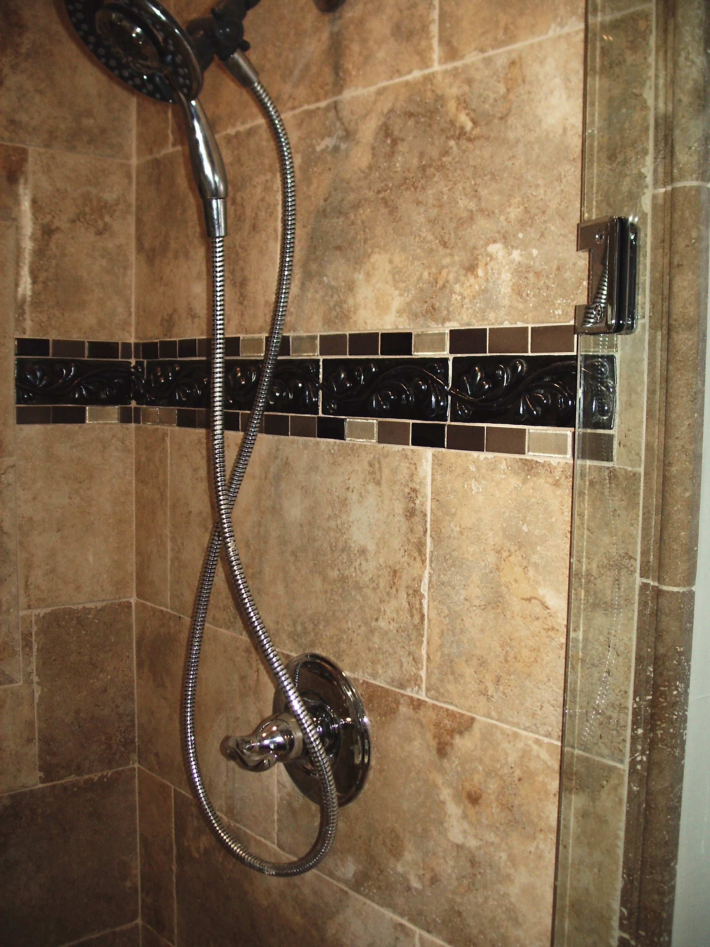 shower tile accent border tile master 16718
