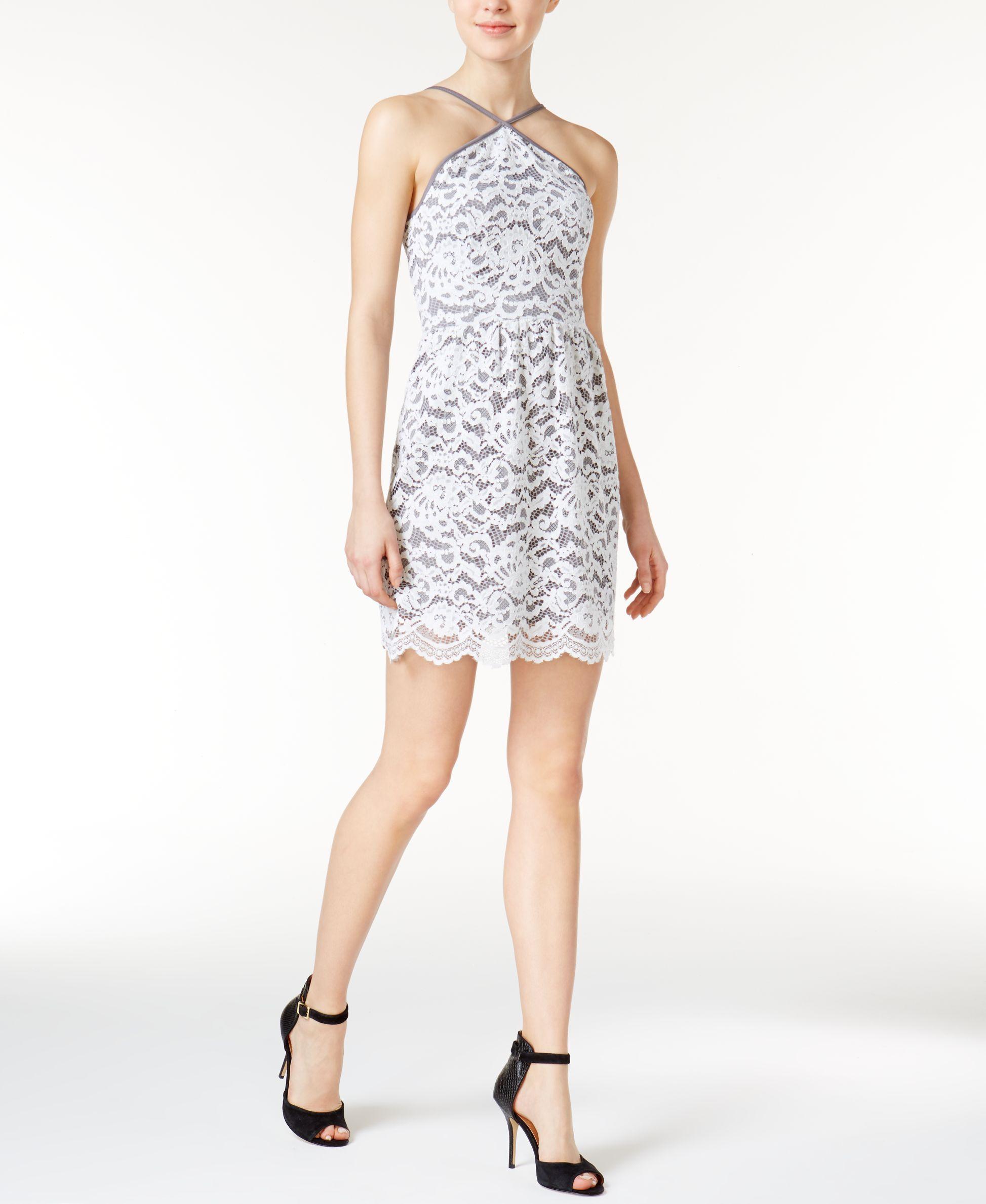 kensie Lace Halter Dress | Products | Pinterest