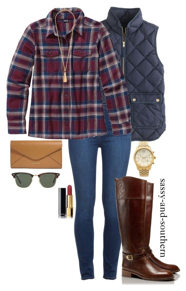 1c8683017abe #sassysouthernfall by sassy-and-southern ❤ liked on Polyvore featuring  J.Crew, Paige Denim, Patagonia, Tory Burch, Michael Kors, Vera Bradley, ...