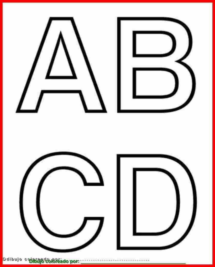 Letras A, B, C, D. Para imprimir, colorear, pintar, decorar. | El ...