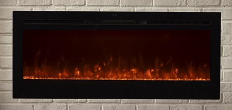 The Sideline 50 Touchstone S Recessed Electric Fireplace With Heat In Black
