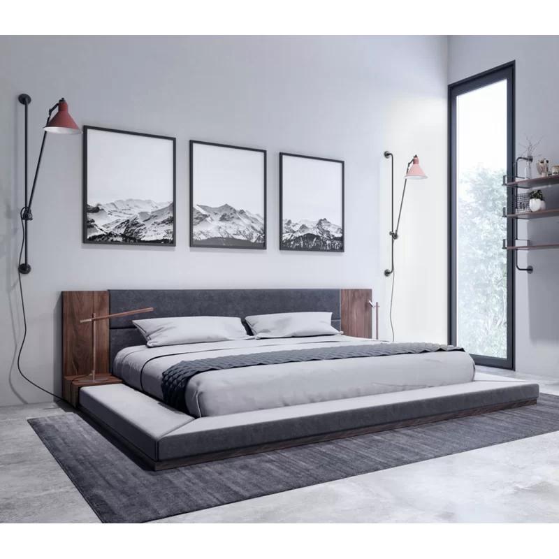 Defalco Platform Bed in 2020 Upholstered platform bed