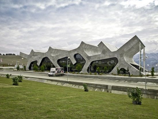 The Rest Stops in Gori, Georgia, by J. Mayer H. Architects: