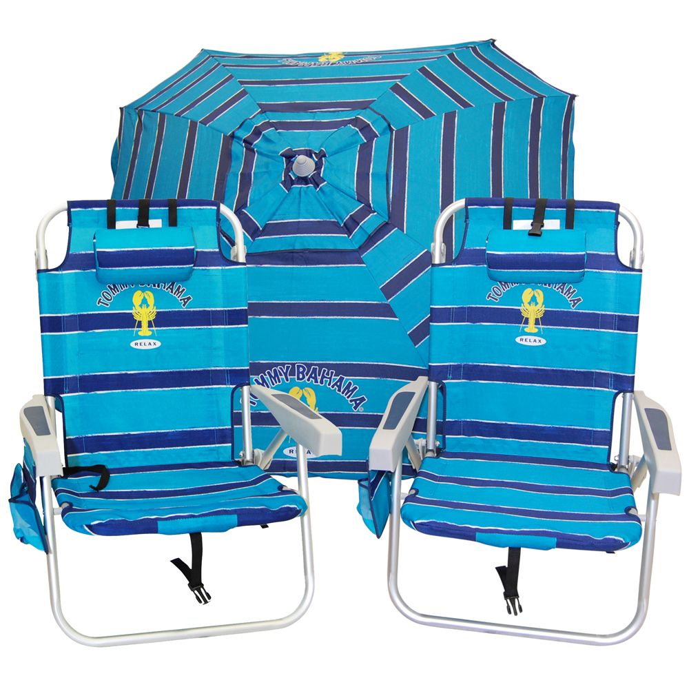 Beach chair and umbrella set - Tommy Bahama Beach Chair And Umbrella Set Ready Now