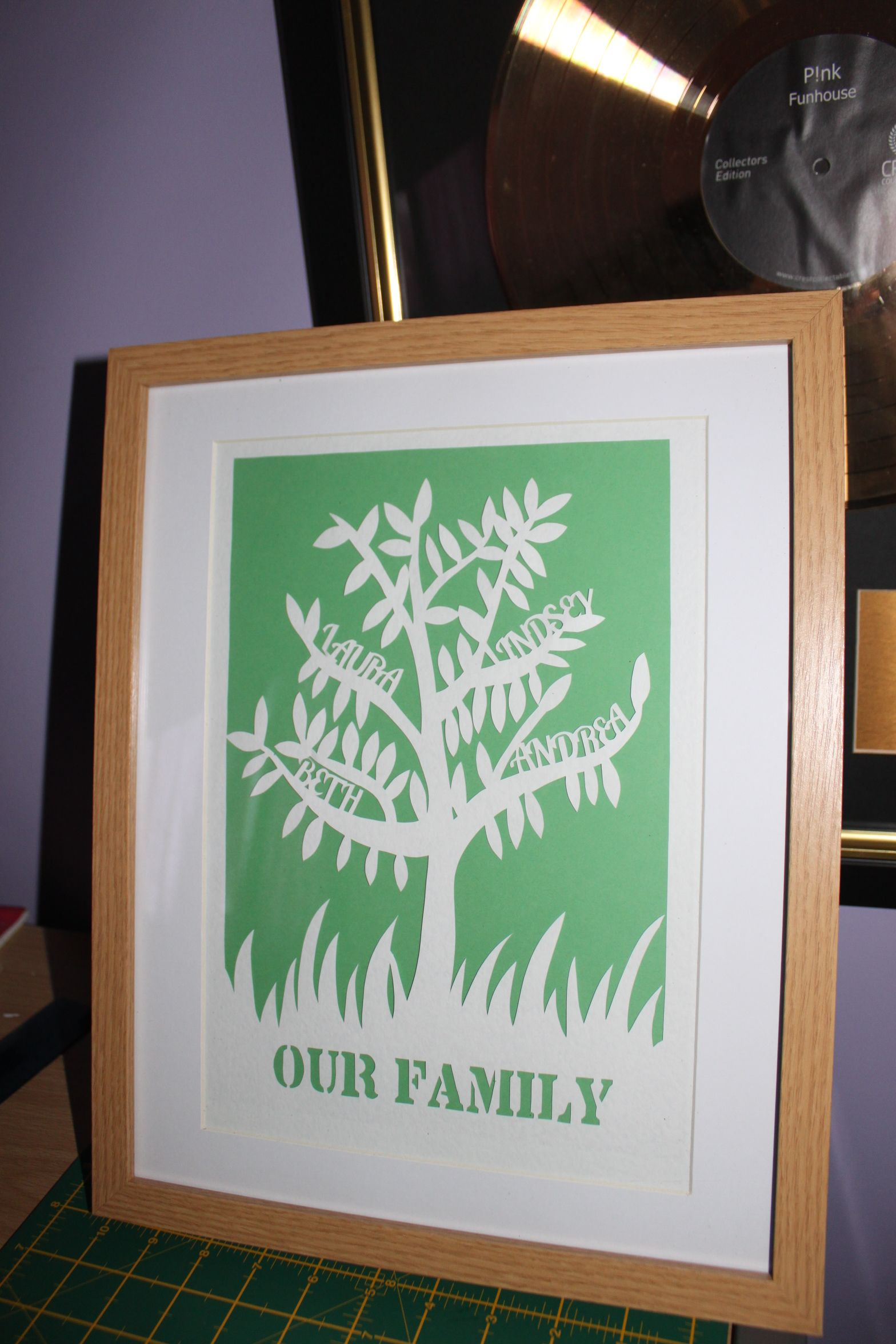 Family Tree Paper Cut Template Available To Buy From Papercut