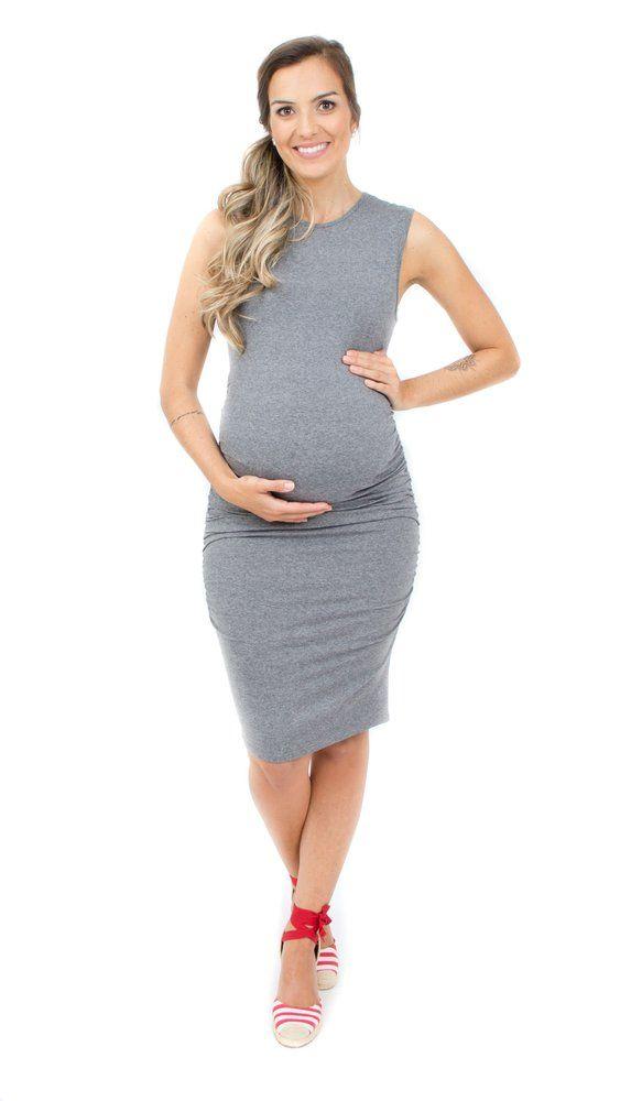 18a8962f6a O vestido para grávidas que fica lindo com tênis