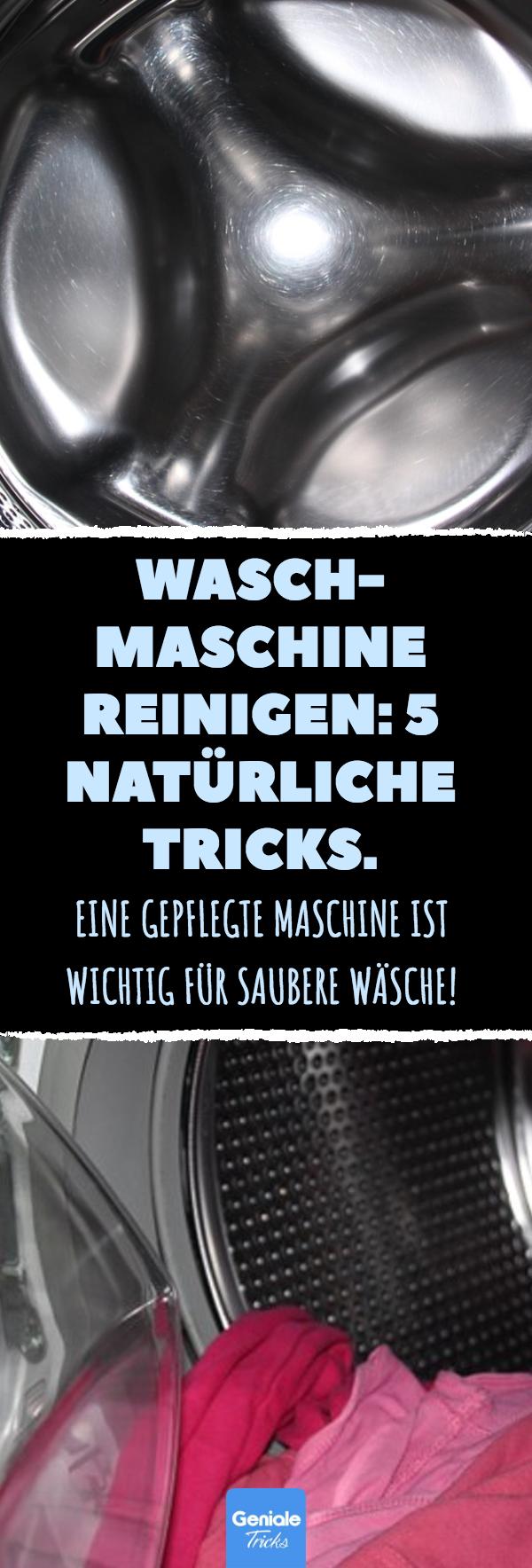 waschmaschine reinigen 5 nat rliche tricks haushalt. Black Bedroom Furniture Sets. Home Design Ideas
