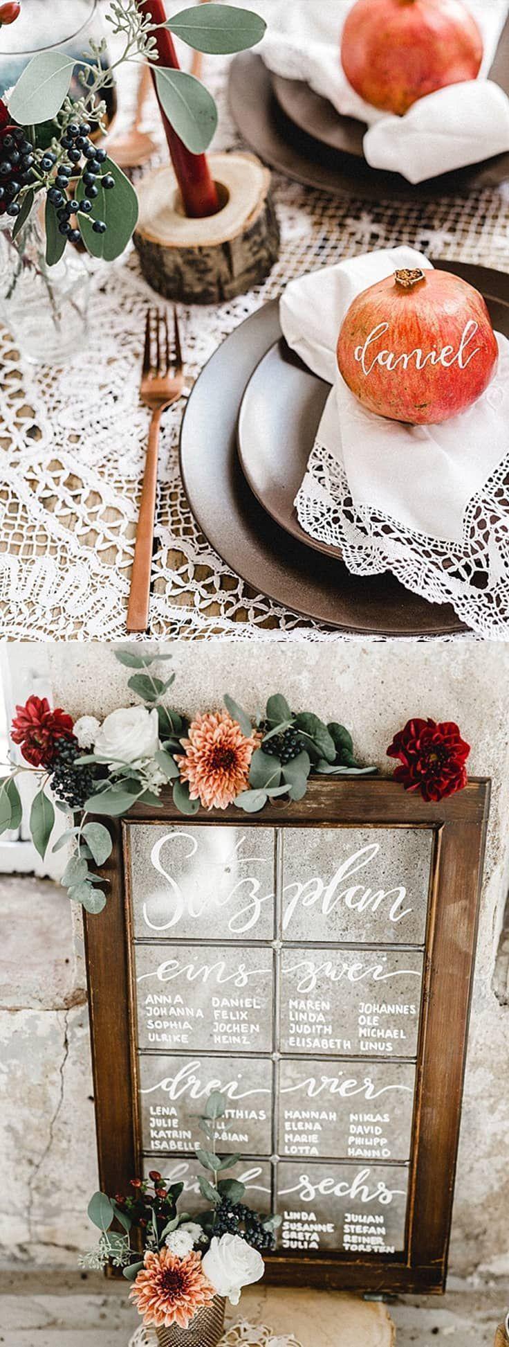 marryMAG: Modern Vintage Herbsthochzeit in der Orangerie #modernvintagedecor