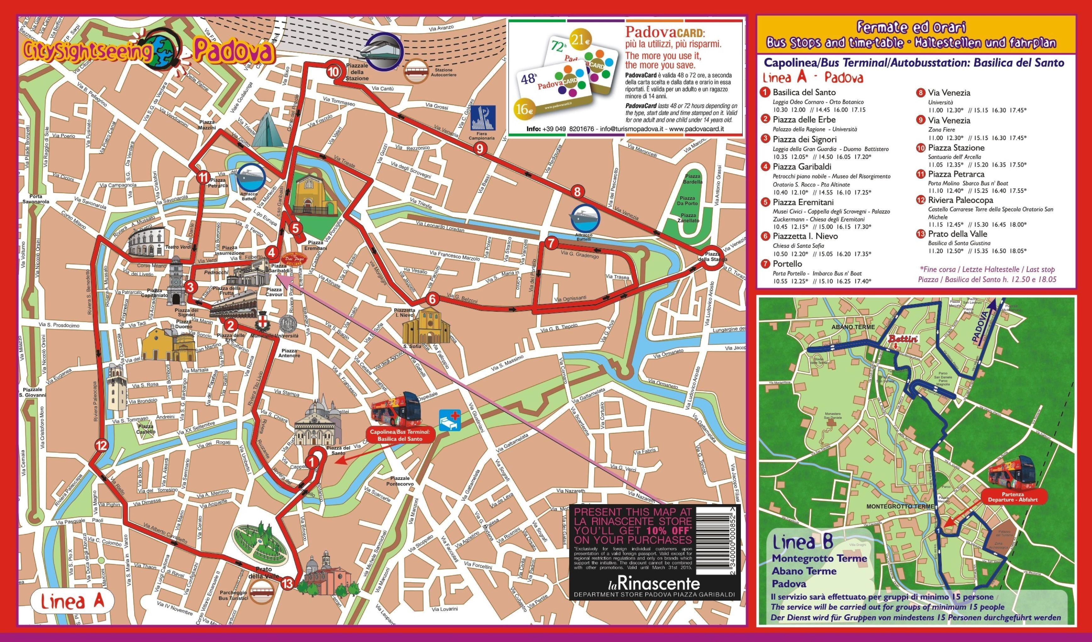 Map of the city of Padua/Padova   Verona & Padua   Map, City ...