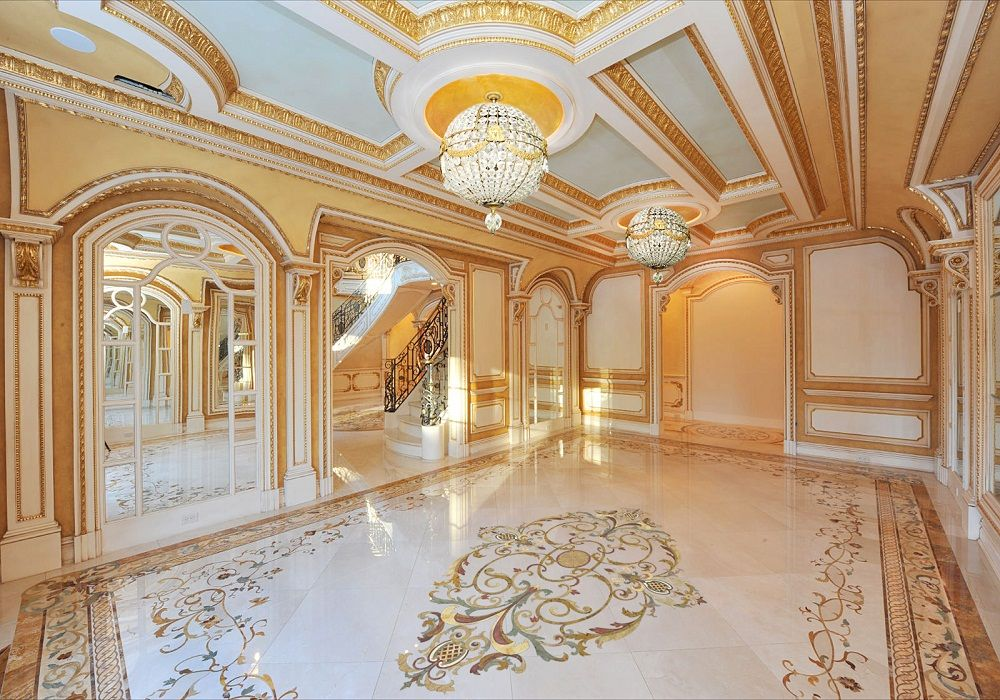 Beautiful Marble Flooring Tile For Luxury Living Room