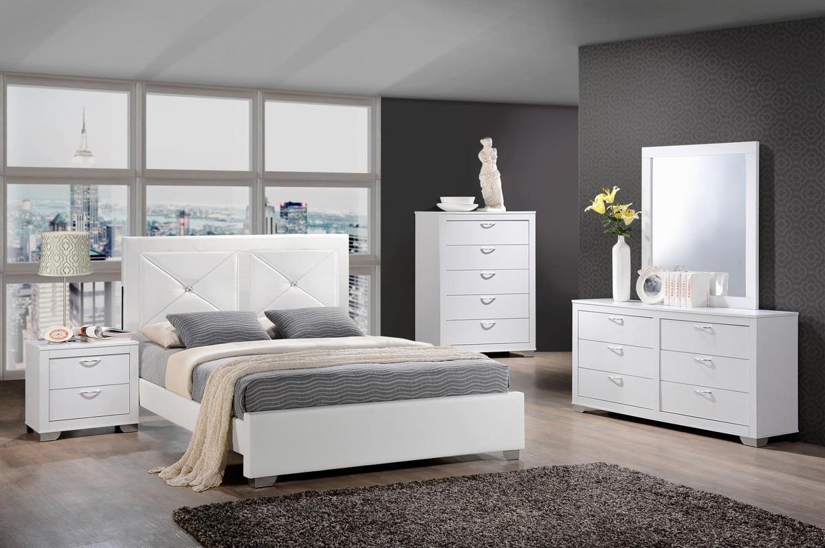 Hot Deal Brahma White Panel Bedroom Setmycobedroom Setbrahma