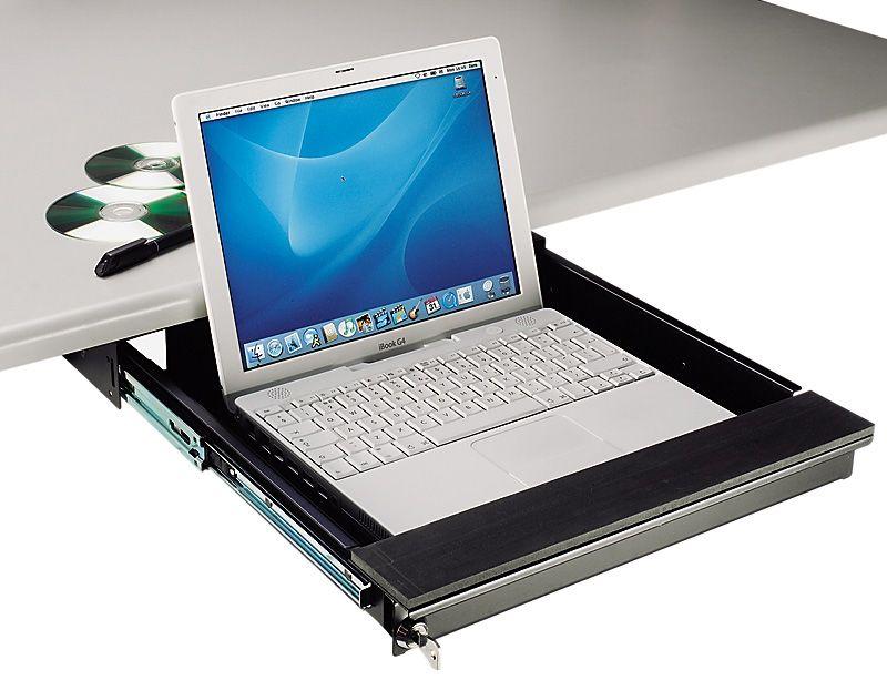 Tecnec Under Desk Mount Lockable Laptop Drawer For Laptops To 17 In Laptop Security Laptop Tray Laptop
