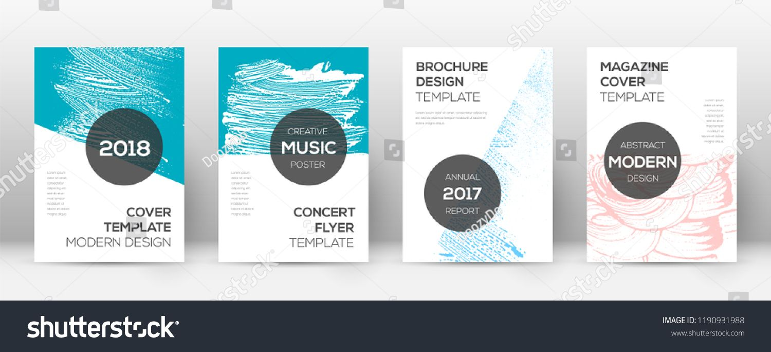 Cover Page Design Template Modern Brochure Layout Cool