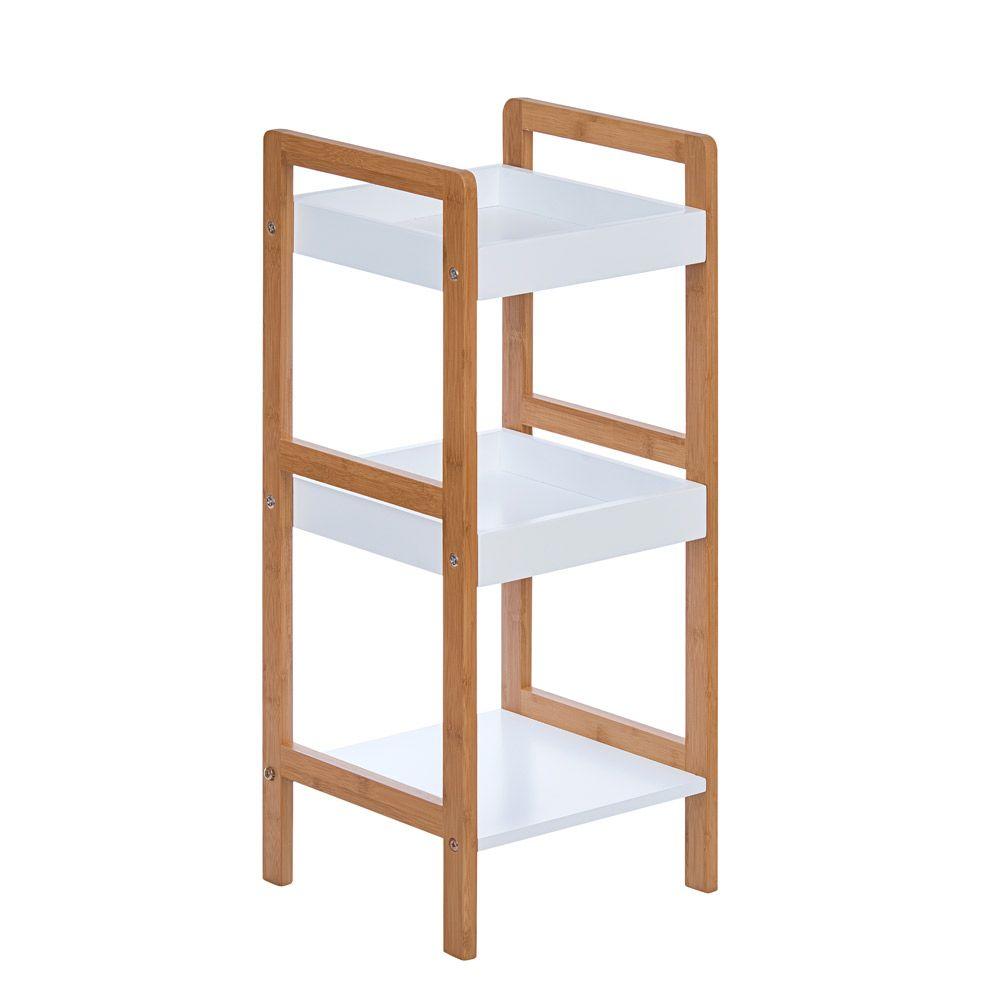 Mueble De Bamb Con 3 Repisas De Almacenamiento Bedroom Ideas  # Muebles Economicos Puerto Rico
