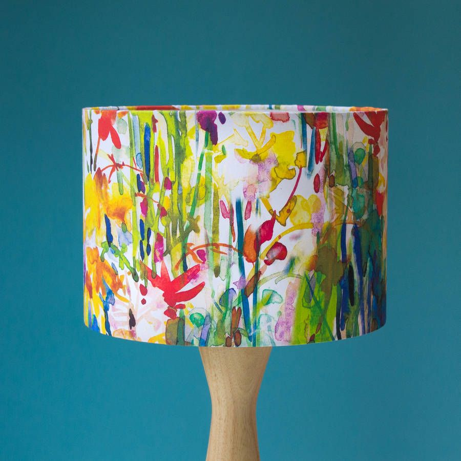 Flowerbed Watercolour Lampshade In 2019 Decorating Ideas