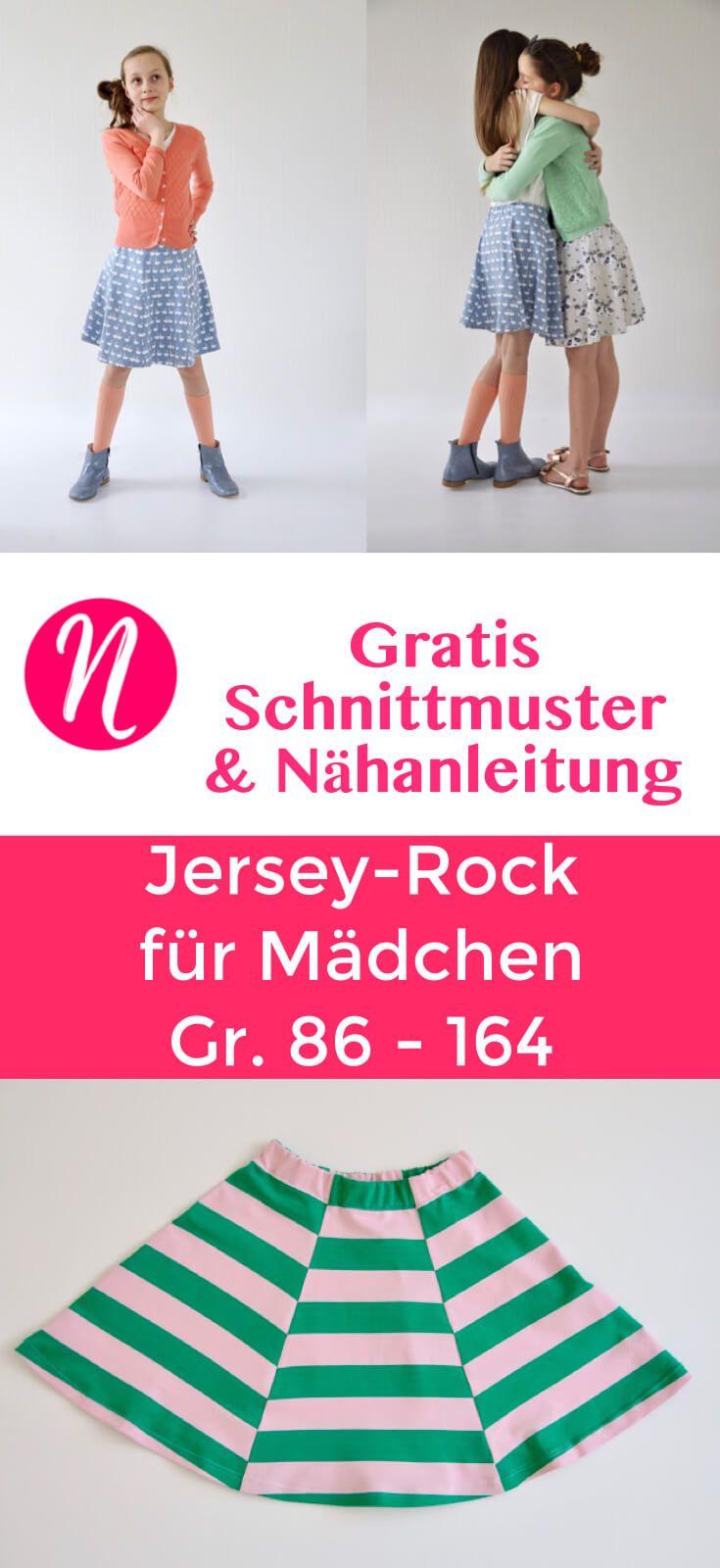 Jerseyrock für Mädchen | Nähanleitung, Girls und Rock