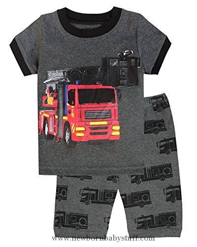 Baby Boy Clothes IF Pajamas Fire Truck Baby Boys Shorts Set Pajamas 100% Cotton Clothes Infant Kid 18-24 Months