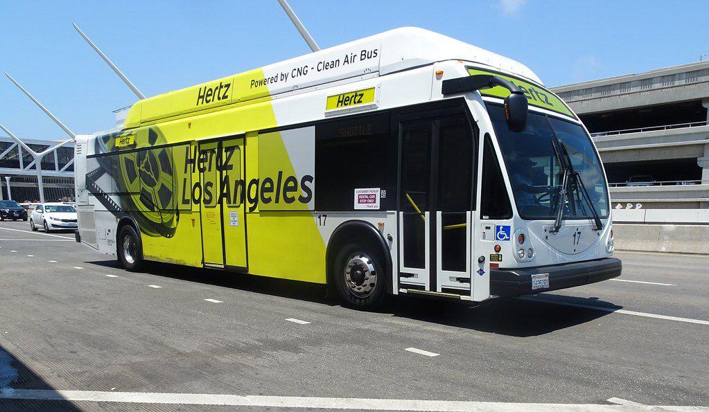 Hertz Shuttle Bus Lax Airport Los Angeles Ca In 2020 Bus Los Angeles Hertz