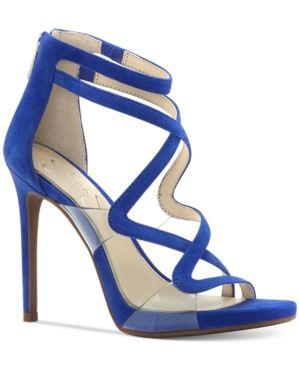 Jessica Simpson Roelyn Lucite Sandals - Blue 8.5M