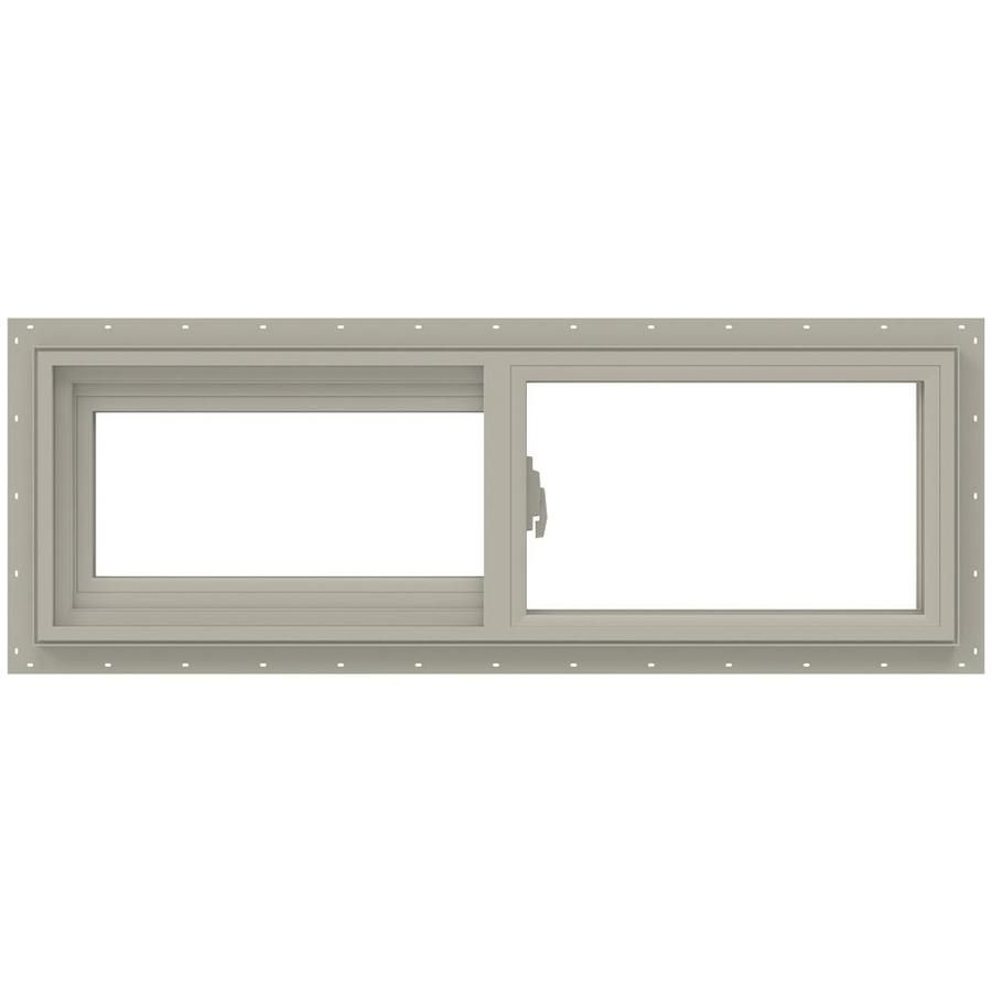 Jeld Wen V 2500 35 5 In X 11 5 In X 2 9065 In Jamb Left Operable Vinyl New Construction Desert Sand Sliding Window Lowes Com In 2020 Vinyl Sliding Windows Sliding Windows Jeld Wen