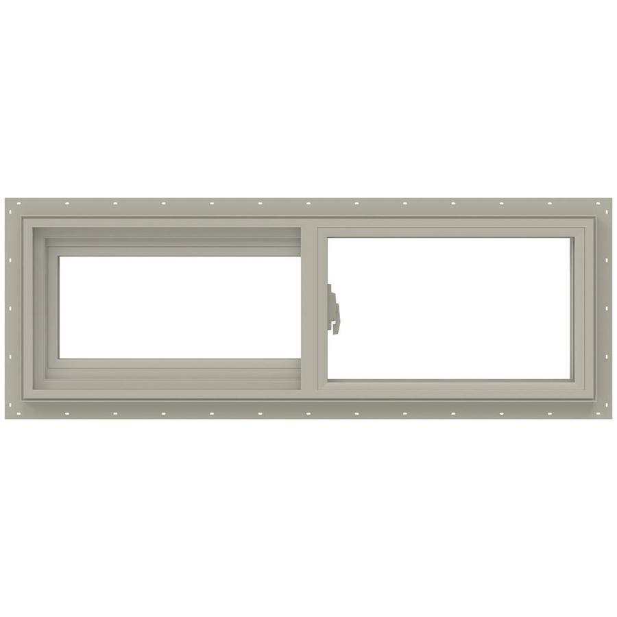 Jeld Wen V 2500 35 5 In X 11 5 In X 2 9065 In Jamb Left Operable Vinyl New Construction Desert Sand Sliding Window Lowes Com In 2020 Vinyl Sliding Windows Sliding Windows Jeld Wen