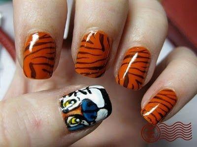 50 Intense Nailpolish Designs Tigers Tiger Nails And Nail Nail